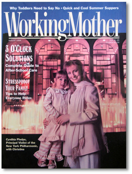 Ballerinas on the cover of Working Mother